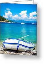 Summer Sailing In The Med Greeting Card