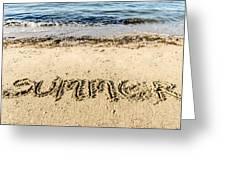 Summer. Greeting Card