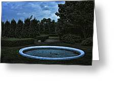 Summer Storm Coming Bahai Temple Greeting Card