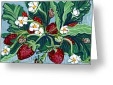 Summer Strawberries Greeting Card