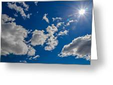 Summer Sun With Clouds Greeting Card