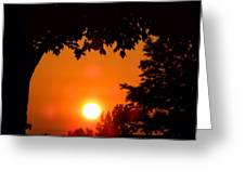 Summer Sunrise Right Side Greeting Card