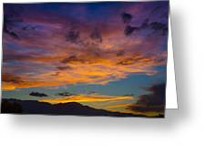 Summer Sunset Colorado Greeting Card