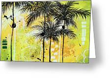 Summer Time In The Tropics By Madart Greeting Card
