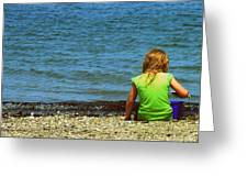 Summer Time On The Coast Of Maine Greeting Card