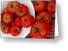 Summer Tomatoes Greeting Card by Kathie McCurdy