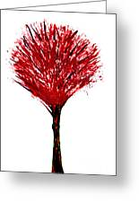 Summer Tree Painting Isolated Greeting Card