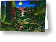 Summer Twilight In The Forest Greeting Card
