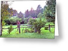 Summer Valley Fence Greeting Card