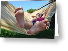 Summertime And The Livin' Is Easy Greeting Card by Laura Fasulo