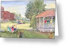 Summertime At The Gazebo Greeting Card