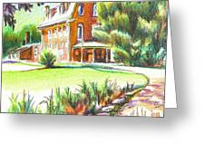 Summertime At Ursuline No C101 Greeting Card