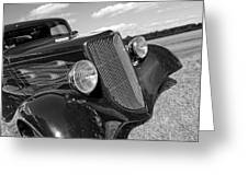 Summertime Blues In Black And White - Ford Coupe Hot Rod Greeting Card