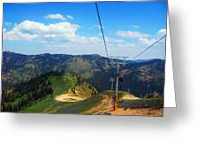 Summertime Chairlift Ride Greeting Card