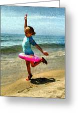 Summertime Girl Greeting Card