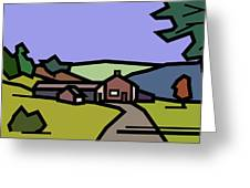 Summertime On Joe's Farm Greeting Card by Kenneth North