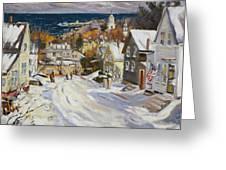 Summit Avenue In Winter Greeting Card