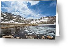 Summit Lake In The Spring Greeting Card