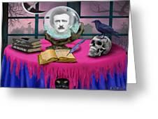 Summoning Edgar Allan Poe Greeting Card