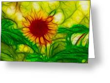 Sun And A Flower Greeting Card