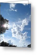 Sun And Cloudburst Greeting Card