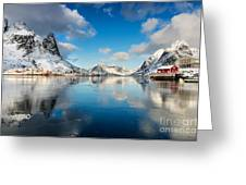 Sun And Ice Reinefjord Greeting Card