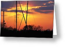 Sun And Masts Greeting Card