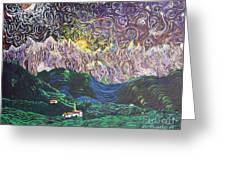 Sun And Moon Night Greeting Card