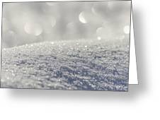 Sun And Snow Greeting Card