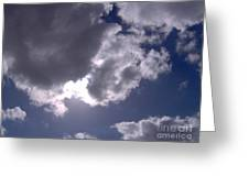 Sun Behind The Clouds Greeting Card