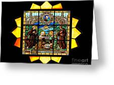 Sun Burst Stained Glass Greeting Card