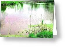 Sun Dappled Water Under A Green Sky Greeting Card