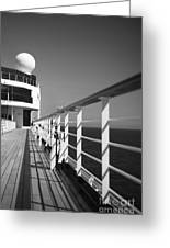 Sun Deck Shadows Greeting Card