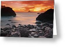 Sun Descends On Northcoast Greeting Card