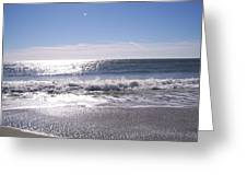 Sun Diamonds On The Surf Greeting Card