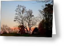 Sun Down Moon Up Greeting Card