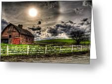 Sun Gazing Upon An Old Barn Greeting Card