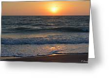 Sun Glistening On The Water Greeting Card