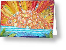 Sun Glory Greeting Card by Susan Rienzo