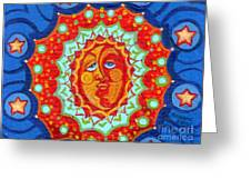 Sun God Greeting Card