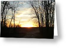 Sun Going Down Greeting Card