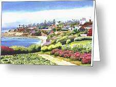 Sun Gold Point La Jolla Greeting Card by Mary Helmreich