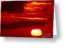 Sun In Descent Greeting Card