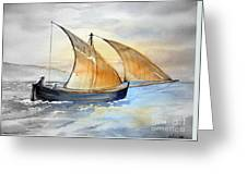 Sun In The Sails  Greeting Card