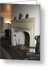 Sun Inn Fireplace Greeting Card