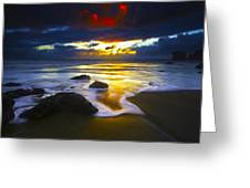 Sun Is Setting Greeting Card