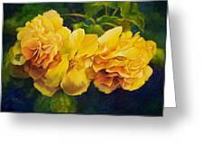 Sun Kissed Yellow Begonias Greeting Card