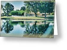 Sun Lakes Oil Greeting Card