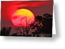 Louisiana Sunset On Fire Greeting Card