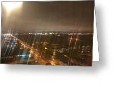 Sun Over City Lights Greeting Card by Naomi Berhane